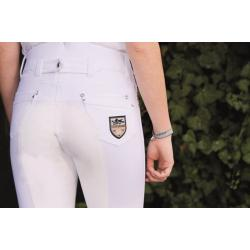 "Pantalon d'équitation ""MRS BLINK BLINK WHITE"" 1/1 HKM Pro-Team"