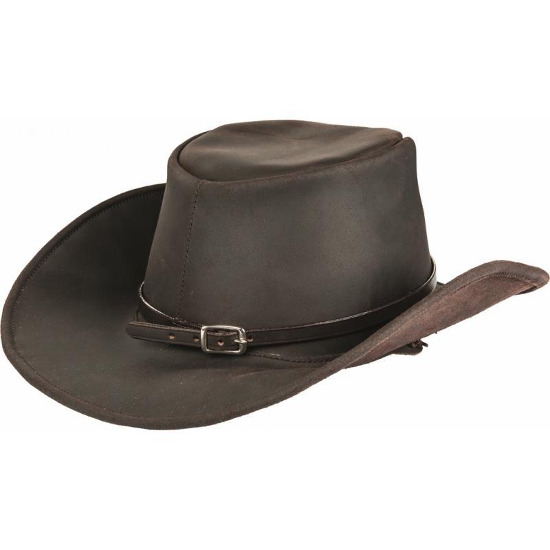 chapeau de cowboy en cuir leatherline hkm texas. Black Bedroom Furniture Sets. Home Design Ideas