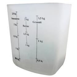 Mesure à grain graduée transparente