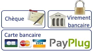 Vos moyens de paiement sur ce site