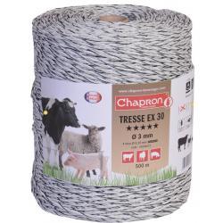 """Cordon de clôture 4 inox """"TRESSE EX 30"""" -500m- Chapron"""