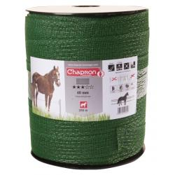 Ruban pour clôture électrique 40mm -8 inox-500m Vert Chapron