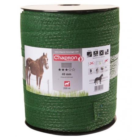 Ruban pour clôture électrique 40mm -8 inox-500m Chapron