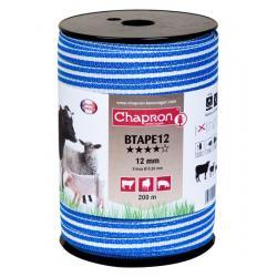 """Ruban pour clôture électrique 12mm -5 inox-200m """"BTAPE 12"""" Chapron"""