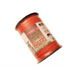 Ruban pour clôture électrique 12.5mm -4 inox-200m Orange Chapron