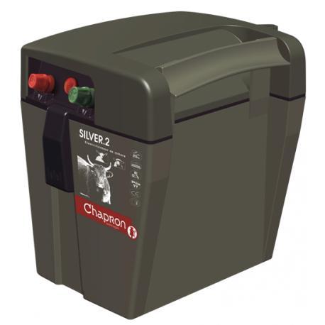 Électrificateur de clôture Chapron SILVER.2 -Accu/Pile- 11 000V/0,4J