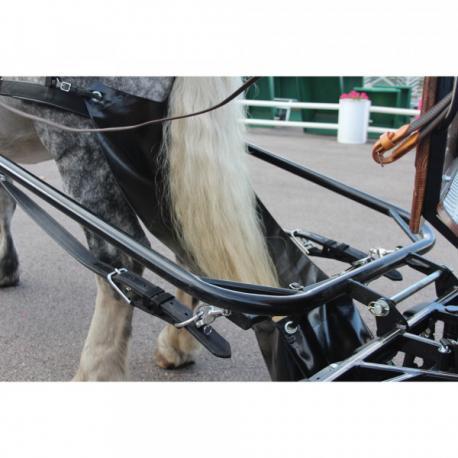 """Voiture d'attelage """"Pony"""" 2 roues à bâtons, avec frein"""