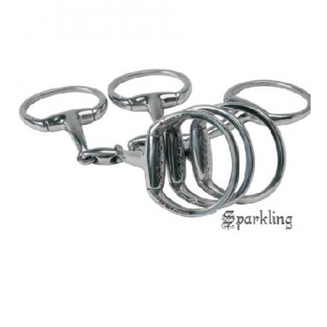 Filet olive Sparkling en inox, diamants synthétiques