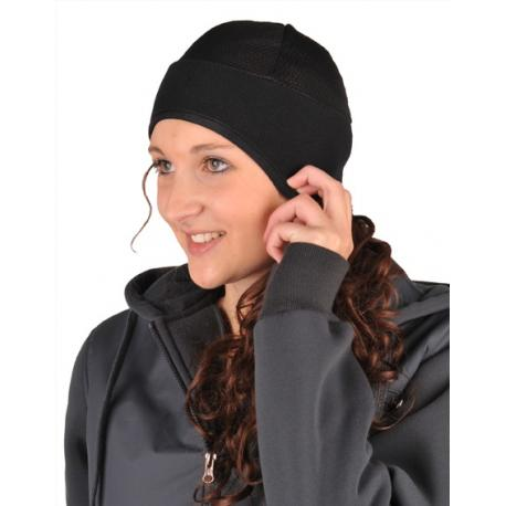 Bonnet en polaire et tissus résille HKM