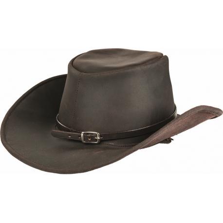 """Chapeau de cowboy en cuir """"LEATHERLINE"""" HKM Texas"""