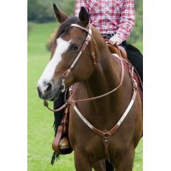 """Martingale Western """"SHOW"""" avec ornement argenté HKM Texas"""