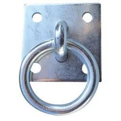 Anneau sur platine en acier galvanisé