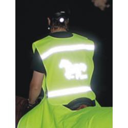 Gilet de sécurité fluo HKM - Adultes