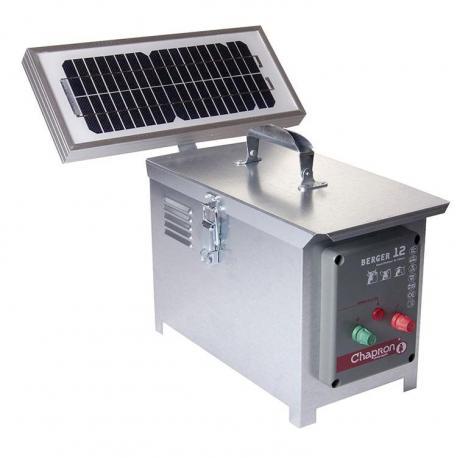 Électrificateur de clôture Chapron BERGER 12 -Accu/Pile- 8 200V/1,9J + Solaire 5W