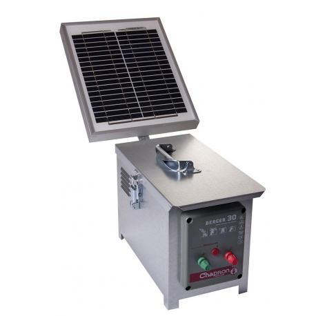 Électrificateur de clôture Chapron BERGER 30 -Accu- 15 000V/2,5J + Solaire 10W