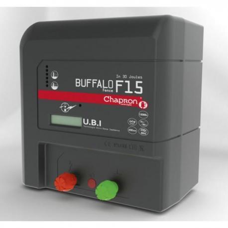 Électrificateur de clôture Chapron BUFFALO FENCE F15 -Secteur- 15 000V/15J