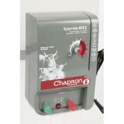 Électrificateur de clôture HYBRIDE 42 -Secteur/Accu- 15 000V/4,2J - Chapron