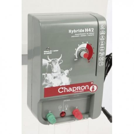 Électrificateur de clôture Chapron HYBRIDE 42 -Secteur/Accu- 15 000V/4,2J