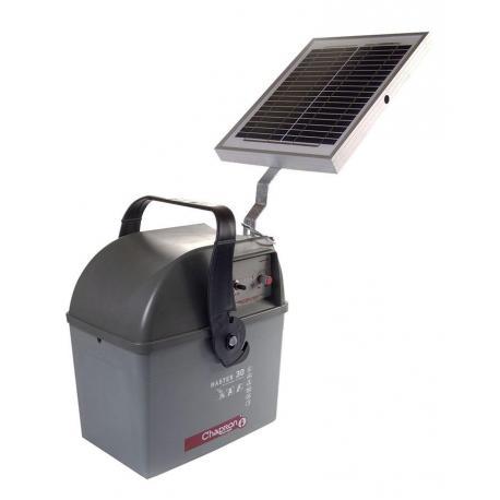 Électrificateur de clôture Chapron MASTER 30 -Accu- 15 000V/2,5J + Solaire 10W