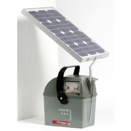 Électrificateur de clôture Chapron MASTER 50-Accu-10 000V/4,5J+Solaire 30W+Régulateur