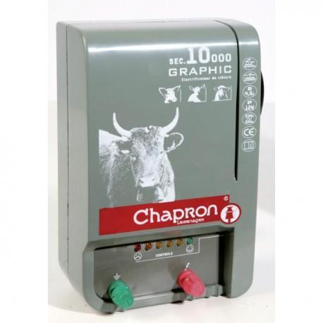 Électrificateur de clôture Chapron SEC 10 000 GRAPHIC -Secteur- 13 500V/4,5J