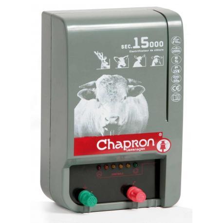 Électrificateur de clôture Chapron SEC 15 000 -Secteur- 15 000V/5J
