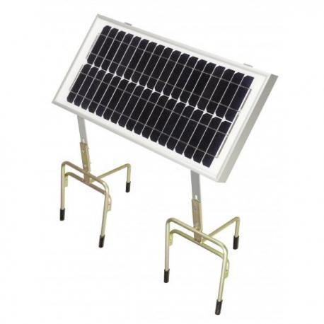 Panneau solaire pour électrificateur de clôture Chapron 20W + Support + 2 Trépieds