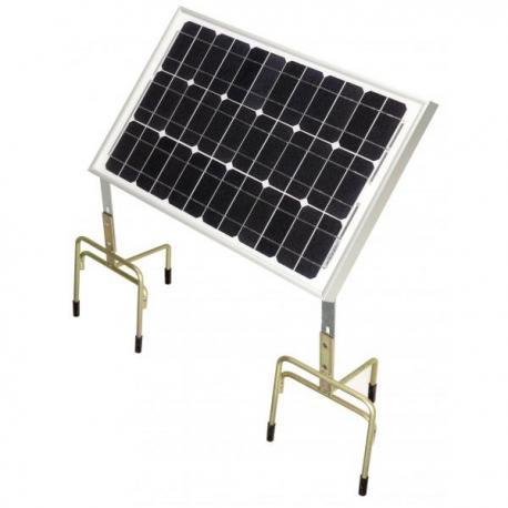 Panneau solaire pour électrificateur de clôture Chapron 30W + Support + 2 Trépieds