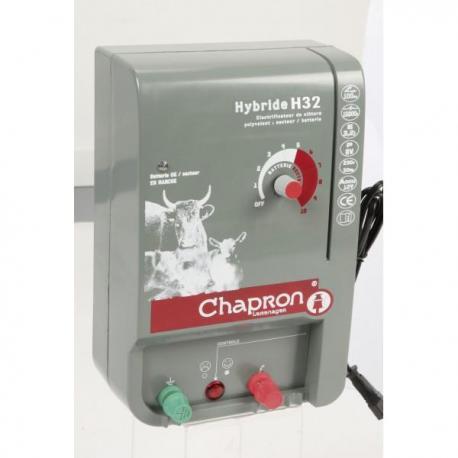 Électrificateur de clôture Chapron HYBRIDE 32 -Secteur/Accu- 15 000V/3,2J