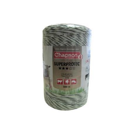 Cordon de clôture 1 inox/2 cuivre SUPERPROTEC - 250m - Chapron