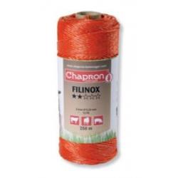 "Cordon de clôture 3 inox 20/100 ""FILINOX"" -250m- Chapron"