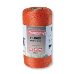 "Cordon de clôture 3 inox 20/100 ""FILINOX"" -500m- Chapron"