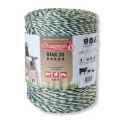 "Cordon de clôture 6 inox ""STAR 30"" -200m- Chapron"