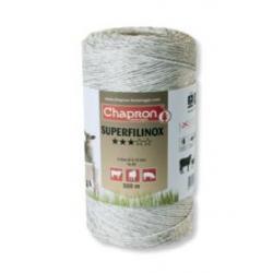 "Cordon de clôture 6 inox ""SUPERFILINOX"" -500m- Chapron"