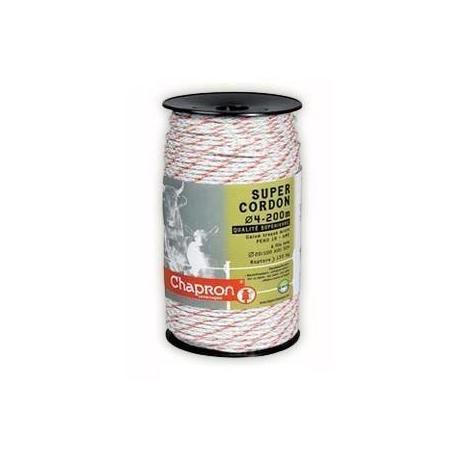 Cordon de clôture 6 inox Ø4 SUPER CORDON TRESSE - 200m - Chapron