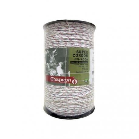 Cordon de clôture 6 inox Ø4 SUPER CORDON TRESSE - 400m - Chapron