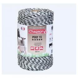 """Cordon de clôture 8 inox/7 cuivre """"POLY 15"""" -300m- Chapron"""