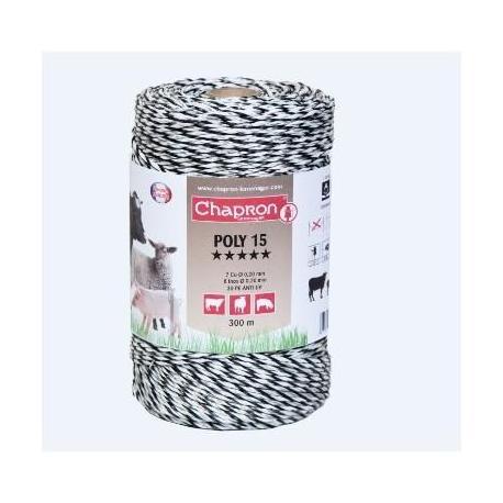 Cordon de clôture 8 inox/7 cuivre POLY 15 - 300m - Chapron