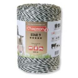 "Cordon de clôture 9 inox ""STAR 9"" -400m- Chapron"