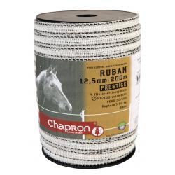 """Ruban pour clôture électrique """"PRESTIGE"""" - 12,5mm - 200m"""