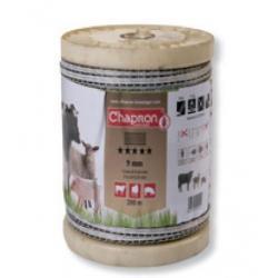 """Ruban pour clôture électrique 9mm -3 inox+3 cuivre-200m """"MIXTE"""" Chapron"""