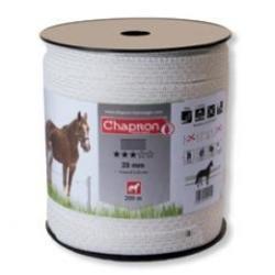 Ruban pour clôture électrique 20mm -5 inox-200m Blanc Chapron