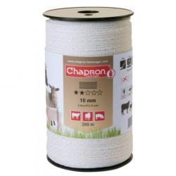 """Ruban pour clôture électrique 10mm -4 inox-200m """"ECO"""" Chapron"""