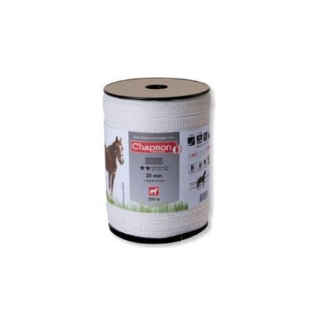 """Ruban pour clôture électrique 20mm -4 inox-200m """"ECO"""" Chapron"""
