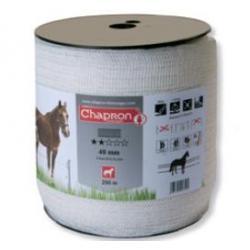 """Ruban pour clôture électrique 40mm -5 inox-200m """"ECO"""" Chapron"""