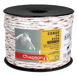 "Cordon de clôture 6 inox ""PRESTIGE"" Ø6 -200m- Chapron"