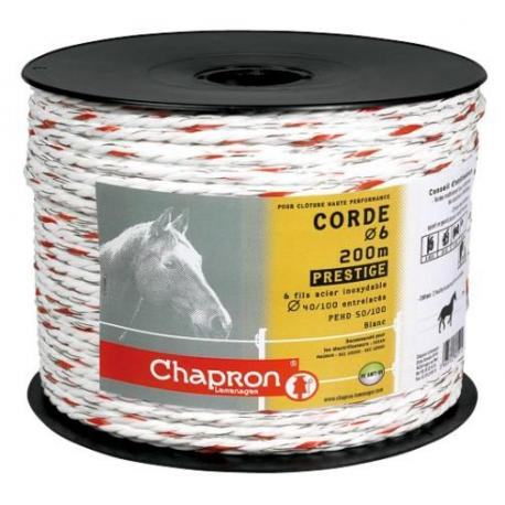 "Cordon de clôture 6 inox Ø6 ""PRESTIGE"" -200m- Chapron"