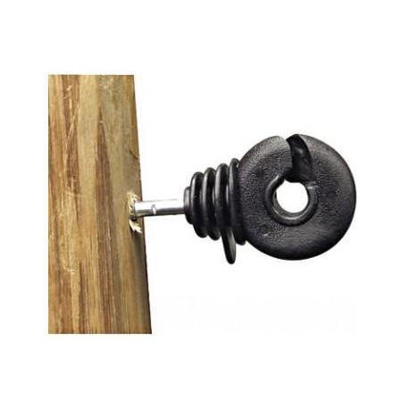 Isolateur N 1985 - Crochet noir à vis renforcée - Sachet de 25