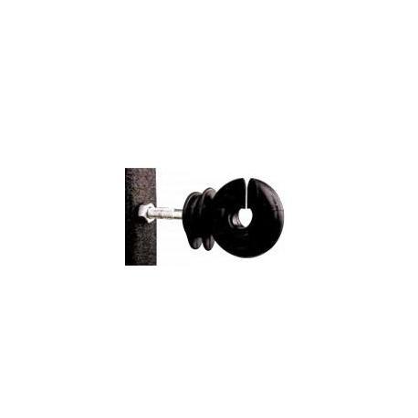 Isolateur F 88 - Crochet noir pour cornière - Sachet de 25