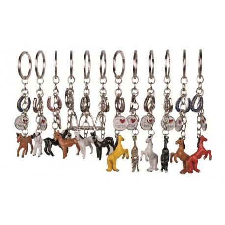 Porte-clés motif chevaux